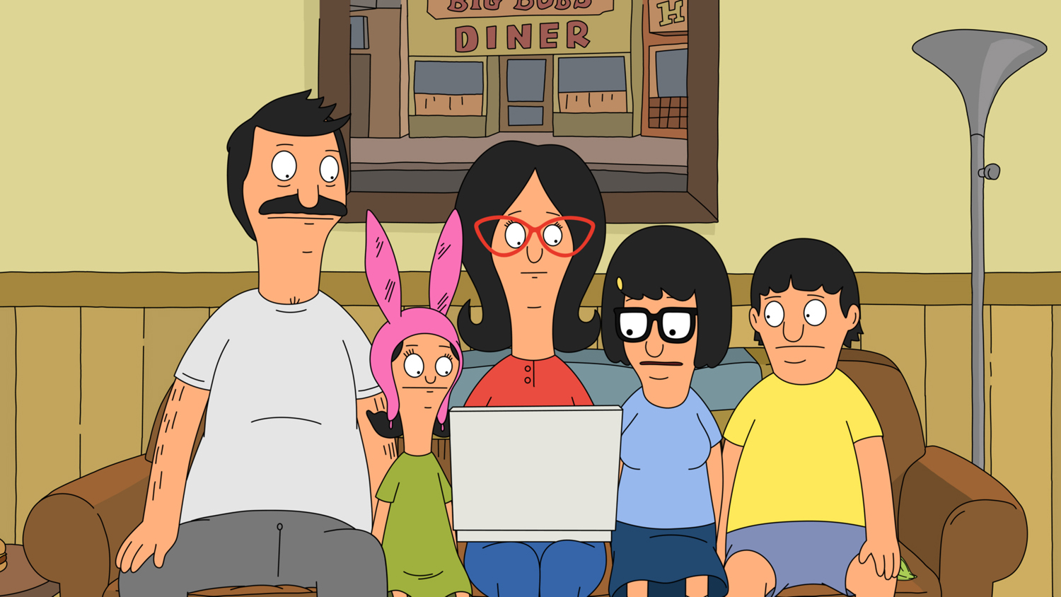 """BOB'S BURGERS: The Belchers go online to help Gene improve at baseball in the all-new """"The Unnatural"""" Season Three finale episode of BOB'S BURGERS airing Sunday, May 12 (8:30-9:00 PM ET/PT) on FOX. BOB'S BURGERS ™ and © 2013 TCFFC ALL RIGHTS RESERVED."""