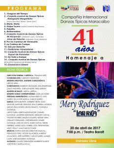 Con Gala en el Baralt Danzas Típica Maracaibo celebra 41 años de trayectoria