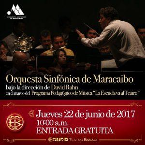 OSM presente en el Programa Pedagógico de Música «La Escuela va al Teatro»