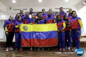 Delegación venezolana recibió Tricolor Patrio para X Juegos Mundiales Polonia 2017