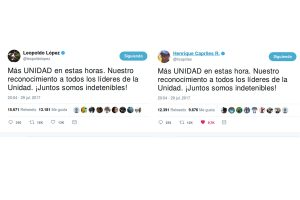 López y Capriles piden juntos «más unidad» frente a «dictadura» en Venezuela