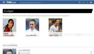 ¿Ya votaste por Deyna Castellanos al Premio The Best de la FIFA?