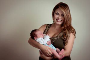 Riczabeth Sobalvarro presentó a su bebé