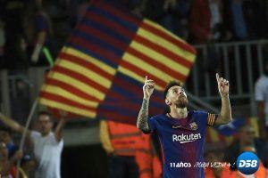 Barcelona, con un póquer de Messi, se desmelena tras el descanso