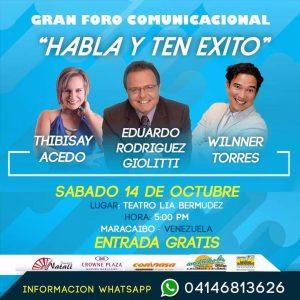 Gran foro comunicacional «Habla y Ten Éxito» llega a Maracaibo