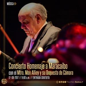 Concierto homenaje a Maracaibo con Max Alliey en el Baralt