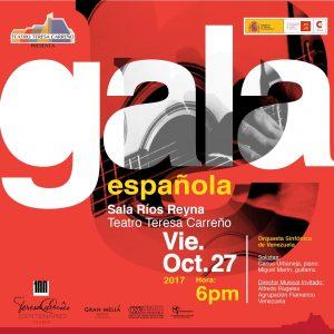 «Gala Española 2017», se presentará en el Teatro Teresa Carreño