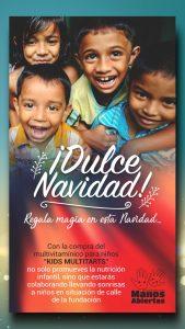 Regalemos sonrisas a los niños de la calle de la Fundación Manos Abiertas