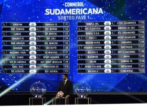 Conmebol Sudamericana: Definidos los partidos de primera fase 2018
