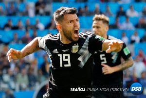 Rusia 2018: Agüero acaba con la sequía argentina después de 341 minutos sin gol