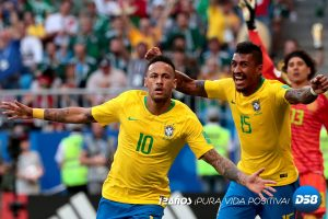 Rusia 2018: Brasil derrotó a un valiente «Tri» y se clasificó para cuartos