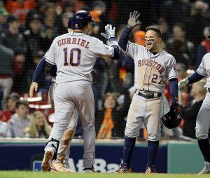 Astros vencen a Boston y arrancan 1-0 arriba en campeonato de la Liga Americana