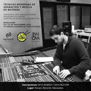 Ofrecerán seminario para modernizar las técnicas de grabación y mezcla de baterías