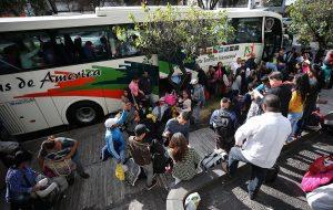 Más de 160 venezolanos regresan a casa en autobuses desde Ecuador