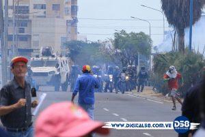 Guardia Nacional embosca las marchas de Maracaibo