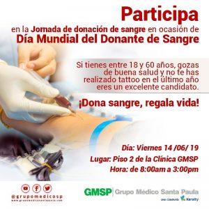 GMSP realizará jornada de donación de sangre