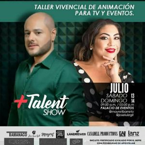 En Maracaibo se realizará el Taller vivencial de animación para TV y eventos + Talent Show