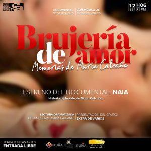 Reestreno del documental «Naia: Historia de la vida de María Calcaño»