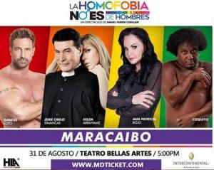 «La homofobia no es cosa de hombres» llega a Maracaibo con el actor mexicano Gabriel Soto