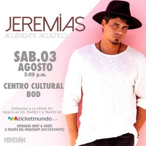 Jeremías regresa al país con su «Acuérdate Tour»