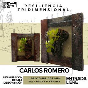 #AgendaCultural: Exposición «Resiliencia Tridimensional» de Carlos Romero hoy en el CBAAM