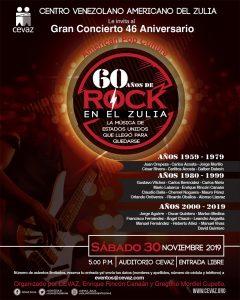 CEVAZ celebrará los 60 años del Rock en el Zulia con un concierto y semana de actividades gratuitas