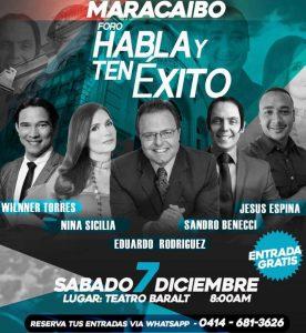 Foro «Habla y Ten Éxito» reúne a importantes ponentes en Maracaibo