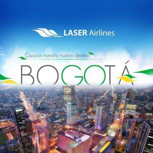 Laser Airlines inicia vuelos regulares hacia Bogotá