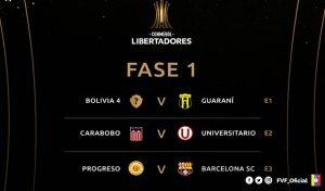 Clubes venezolanos conocieron sus rivales en las Copas Libertadores y Sudamericana