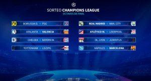 Sorteo Champions: Bombas para Madrid y Atleti; Barça y Valencia, afortunados
