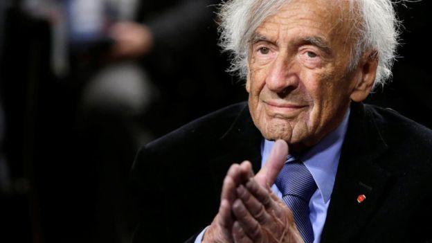 Elie Wiesel, sobreviviente de Auschwitz