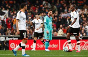 #LaLiga: Barcelona cae 2-0 ante el Valencia y peligra su liderato en LaLiga