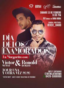 ¡Confirmado!  Ronald Borjas le cantará a los enamorados en Venezuela