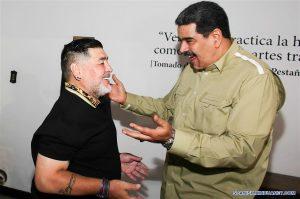 Maradona llega a Venezuela y se reúne con Nicolás Maduro