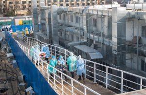 «Montaña del Dios del Fuego»: El hospital hecho en 10 días en China para pacientes con Coronavirus