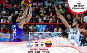 Venezuela inicia camino victorioso en la clasificación para la AmeriCup 2021