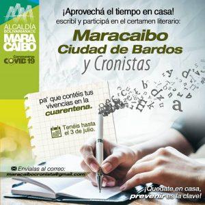 Alcaldía Bolivariana invita a participar en el certamen literario «Maracaibo Ciudad de Bardos y Cronista»