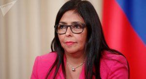 Delcy Rodríguez confirmó los dos primeros casos de coronavirus en Venezuela