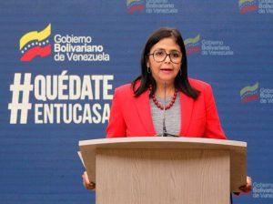 Delcy Rodríguez confirma seis nuevos casos de coronavirus en Venezuela