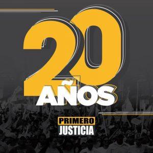 Primero Justicia cumple 20 años comprometidos con Venezuela