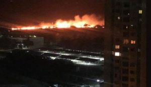 Incendio en la segunda etapa de la Vereda del Lago causó alarma