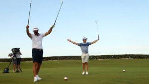 McIlroy y Johnson se llevan la victoria en un torneo benéfico de golf
