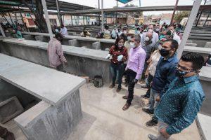 Alcalde Casanova inspeccionó avances del Mercado Cancha de La Curva de Molina