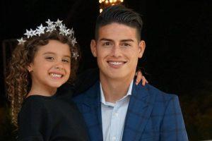 La hija del futbolista James se vuelve famosa en las redes sociales