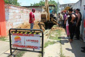 Alcaldía de Lagunillas repara colector en sector Valmore Rodríguez