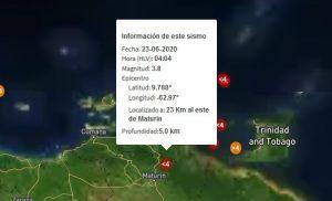 Maturín registró un sismo de 3.8 en la madrugada de este martes