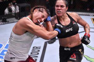 La brasileña Amanda Nunes retiene la corona de los plumas en la UFC en Las Vegas