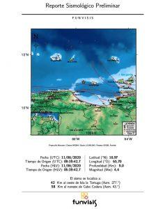 Venezuela: Sismo de magnitud 4,4 se registró hoy en Isla la Tortuga
