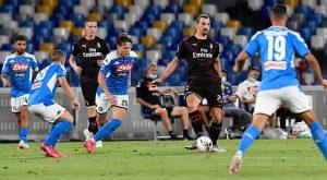 (#SerieA) Napoli y Milan empatan en un partido lleno de goles