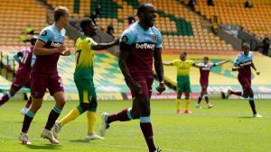 (#Premier) West Ham golea al Norwich para alejarse de la zona de descenso